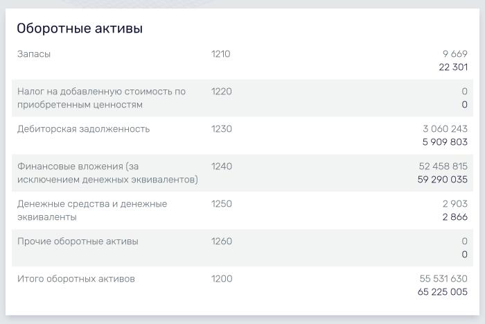 """Раздел """"Отчетность"""" в сервисе Rusprofile"""
